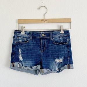 Sneak Peek Mid Rise Denim Jean Shorts Small